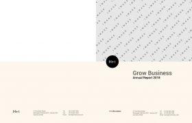 2018专业干净清新时尚的企业年度报告手册indesign排版模板