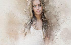 专业完美复古水彩人物肖像处理特效PS动作Perfectum – Vintage Watercolor Photoshop Action