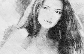 经典黑白素描铅笔手绘效果PS动作 下载