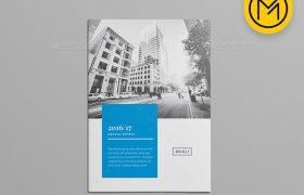 企业画册简洁时尚的公司简介手册indesign排版模板